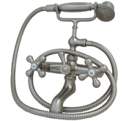 Двуръкохватков смесите за вана с подвижен душ