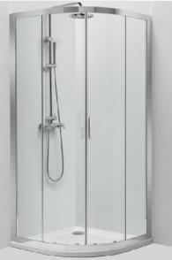 Овална душ-кабина 80/80см
