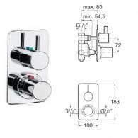 Термостатичен смесител за душ