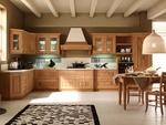 висококачествени ъглови кухни масив череша по размер