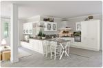 нечупливи големи бели кухни масив дизайнерски