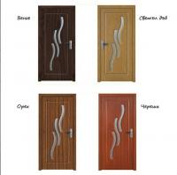 Интериорна врата с орнамент от стъкло