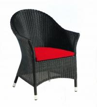 Черен стол от ратан