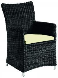 Стол от синтетичен ратан с възглавница -