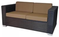 Черен диван от ратан
