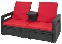 Разтегателен диван от ратан
