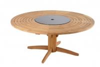 Кръгла маса от тиково дърво