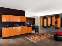 Оранжева кухня по поръчка