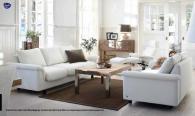 Луксозен кожен триместен диван