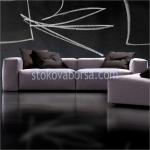 дизайнерски двуместен диван