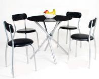 Комплект мебели за хранене в черно