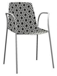 Модерен стол черно и бяло
