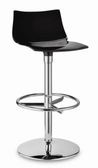 Бар стол с облегалка в черно