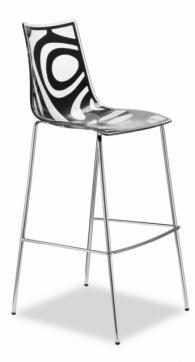 Бар стол със стоманени крака в черно