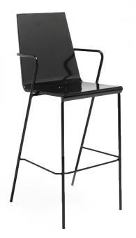 Бар стол с боядисани крака в черно