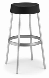 Тапициран бар стол в черно