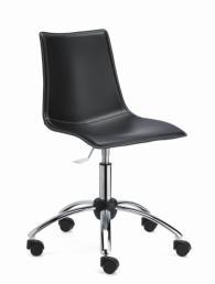 Тапициран офис стол в черно