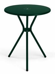 Кръгла метална маса в тъмно зелено