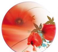 Верзалитов плот за маса кръгъл с цветя