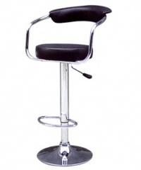 Удобен тапициран бар стол в черно