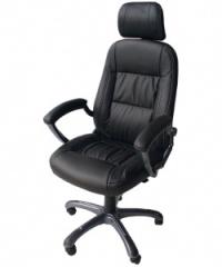 Кожен менажерски стол в черно