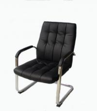 Посетителско кресло,еко кожа,черно