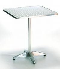 Алуминиева маса,квадратен плот,кръстачка с чугун
