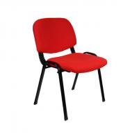 Офис стол посетителски метални крака в червено