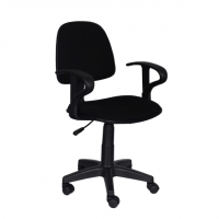Работен офис стол,текстил,черен