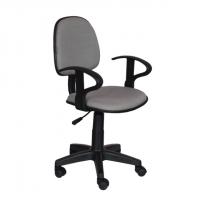 Работен офис стол,текстил,сив