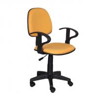 Работен офис стол жълта дамаска