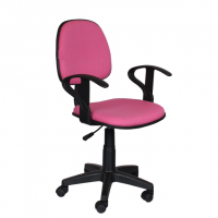 Работен офис стол розова дамаска