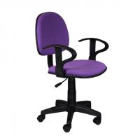 Работен офис стол лилава дамаска