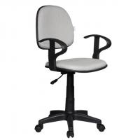 Работен офис стол светло сива дамаска