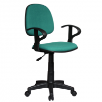 Работен офис стол тъмно зелена дамаска