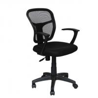 Офис стол с мрежа в черно