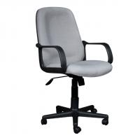Ергономичен офис стол със сива дамаска