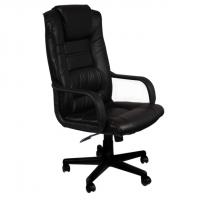 Президенстки стол с висока облегалка в черно