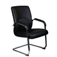 Луксозно посетителско кресло черно