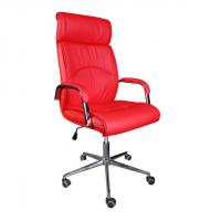 Луксозен президентски стол червен