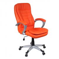 Перфектен директорски стол в наситено оранжево