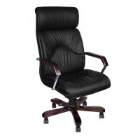 Стилен президентски стол с естествена кожа
