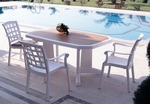 Пластмасови комплекти маси и столове за заведения
