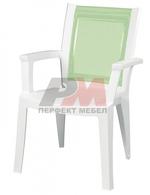 Пластмасова бар стол за открити пространства