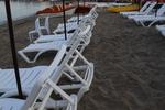 Шезлонги за плажна ивица с текстилен