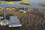 Много модели шезлонги за плажна ивица с текстилен
