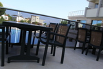 Пластмасов зелен стол за заведение