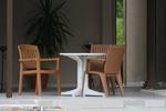 Пластмасови кафяви столове за хотели