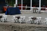 Градински бели столове, от пластмаса