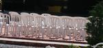 Пластмасови бели столове, за открито